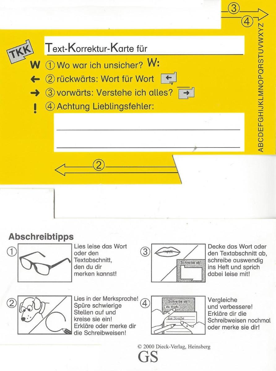 Gelbe Karte Grundschule.Beate Lessmann Materialien Dieck Verlag