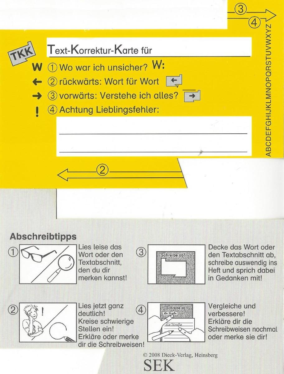 Gelbe Karte Grundschule.Beate Leßmann Materialien Dieck Verlag